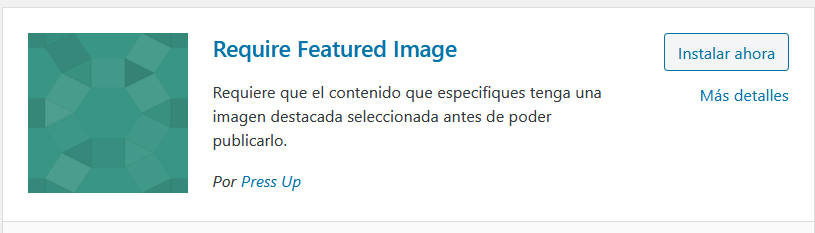 Require Featured Image